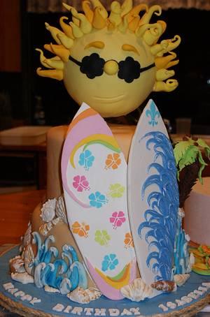 Little Surfer Girl - Cake by Margie