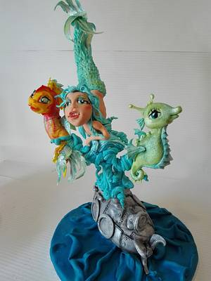Sea life - Cake by carlaquintas