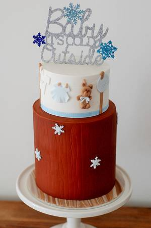 Baby it's cold out side Baby Shower Cake! - Cake by Zelicious