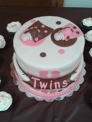 Twins baby shower - Cake by m1bame