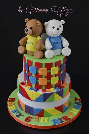 Colors and Bears - Cake by Mommy Sue