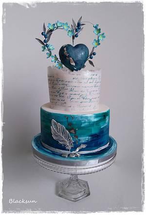 Blue heart - Cake by Zuzana Kmecova