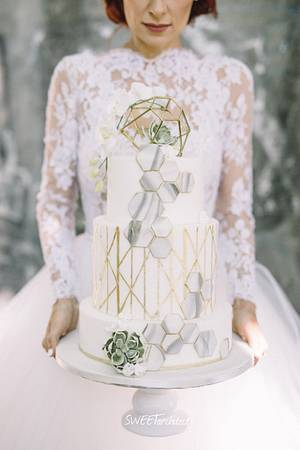 My geometry wedding cake 2 - Cake by SWEET architect