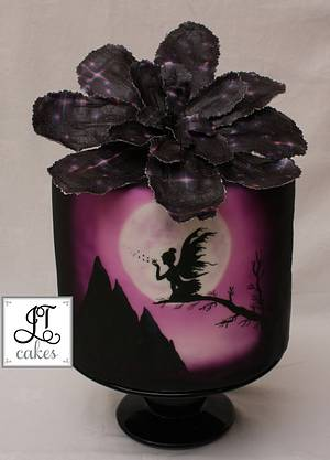 Fairy hand painted cake - Cake by JT Cakes