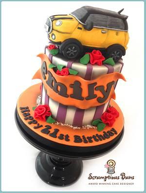 Yellow Mini Car Cake - Cake by Scrumptious Buns