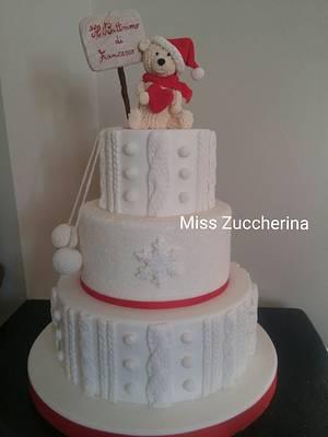 Winter baptism cake - Cake by Miss Zuccherina cake designer