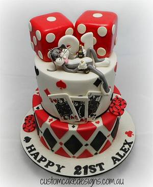 Hangover in Vegas Cake - Cake by Custom Cake Designs
