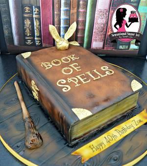 Harry Potter Book of Spells Cake - Cake by Sensational Sugar Art by Sarah Lou