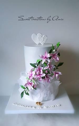 Wedding cake - Cake by Ania - Sweet creations by Ania