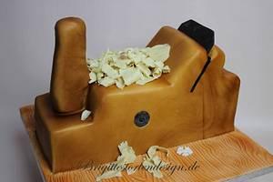 Wood plane 3 D cake - Cake by Brigittes Tortendesign