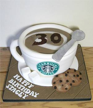 Starbucks Coffee Cup Cake - Cake by Rachel Manning Cakes