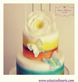 Flower and butterflies - Cake by Estasi Culinarie
