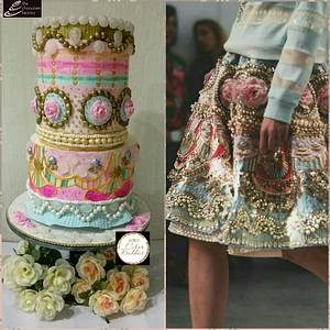 Roses and Bling - Cake by TheChocolateFactory by Nehmat