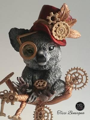 Steampunk Koala - Collaboration - Cake by Tissì Benvegna
