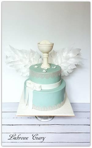 First Holy Communion  - Cake by Lukrowe Czary Katarzyna Osiecka