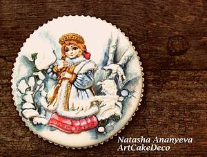 Snow maiden  - Cake by Natasha Ananyeva (CakeVirtuoso Studio)