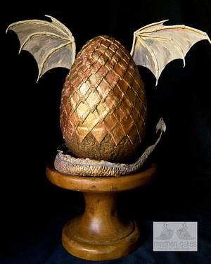 Dragon Egg - Cake by MadHenCakes
