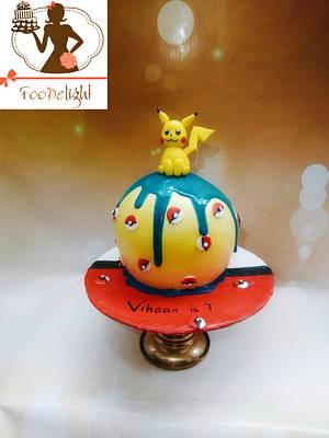 Pikachu sphere cake - Cake by Shruti agarwal