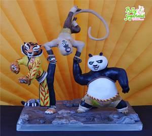 Kung Fu Panda Mania Collab - My piece - Cake by Bety'Sugarland by Elisabete Caseiro