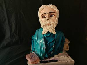 Rabindranath Tagore :Dr RB Sudha - Cake by Dr RB.Sudha