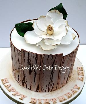 Crackle Effect and Magnolia - Cake by The Rosehip Bakery