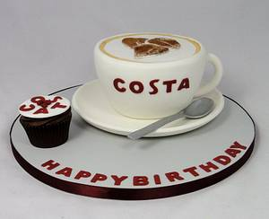 Costa Coffee Cup Novelty Cake - Cake by Ceri Badham