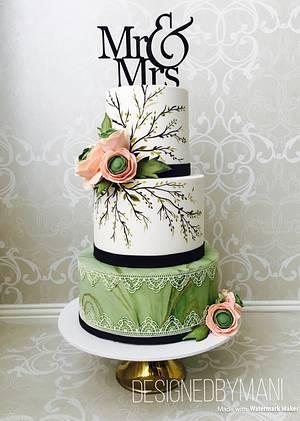 Mr & Mrs wedding cake - Cake by designed by mani