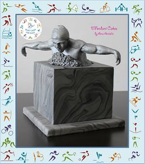 Swimmer sculpture - Cake by DFondant Cakes