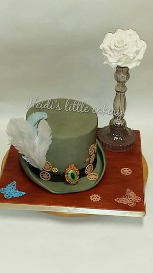 steam punk theme top hat - Cake by Heidi's little cakery