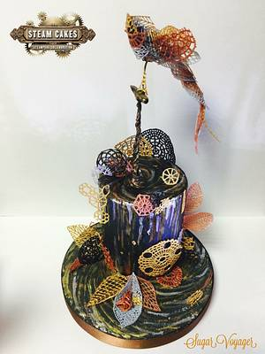 Flight of Fancy - Steam Cakes collab - Cake by sugar voyager