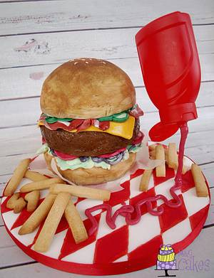 A burger so sweet.... - Cake by M&G Cakes