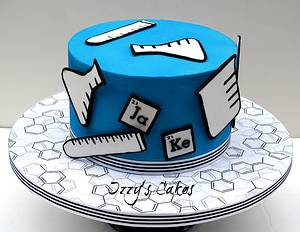 Science Themed Birthday - Cake by The Rosehip Bakery