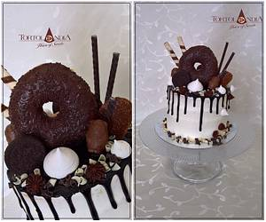 Drip cake - Cake by Tortolandia
