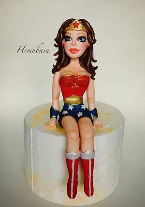 Wonder Woman cake topper! - Cake by Hemu basu