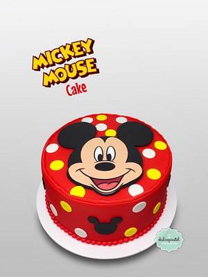 Torta de Mickey Mouse Cake - Cake by Dulcepastel.com