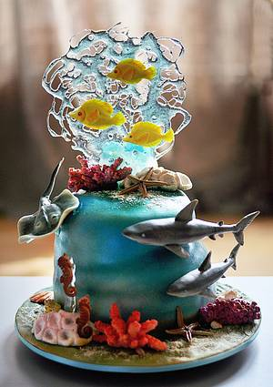 Seaworld Cake - Cake by Savenko Sugar Art
