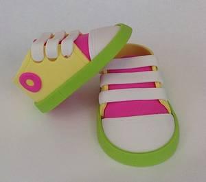 Spring Baby Sneakers - Cake by Xiomara Ortiz-Bevel