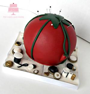 Sewing Theme Cake - Cake by YB Cakes and More