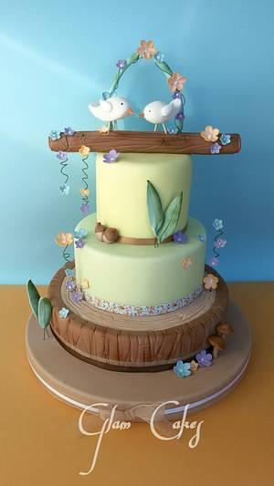 birds in love - Cake by francesca
