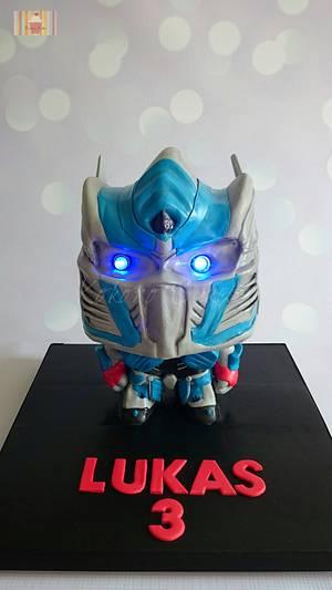 Optimus Prime cake  - Cake by Kokoro Cakes by Kyoko Grussu