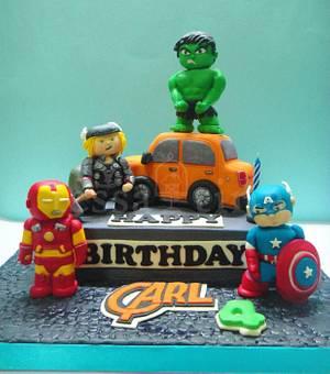 Avengers cake - Cake by tessatinacakes
