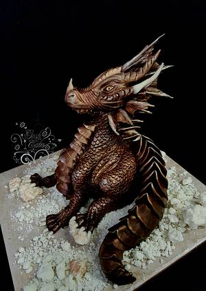 Chocolate Dragon - Cake by GoshCakes
