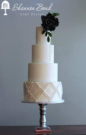 Lace and Lattice Wedding Cake - Cake by Shannon Bond Cake Design