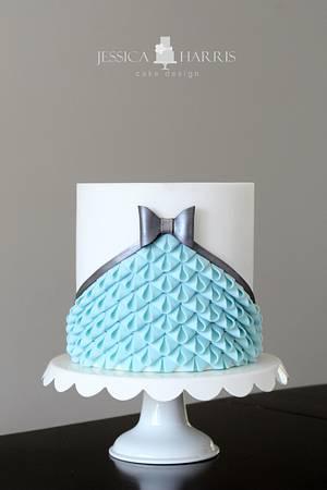 Modern Looped Bow Ruffle Cake - Cake by Jessica Harris