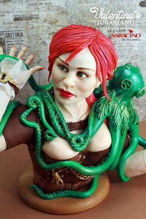 Miss Octopus - Steam Cakes Collaboration - Cake by Valentina's Sugarland