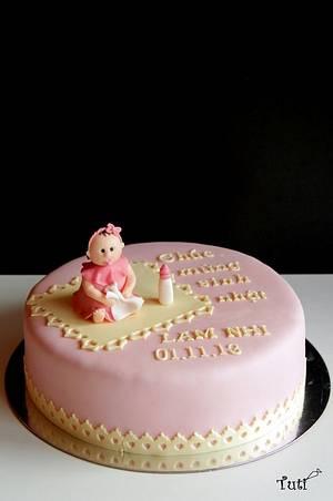Baby girl birthday cake - Cake by tuti