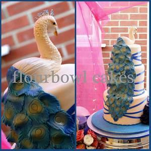Peacock Wedding Cake - Cake by Flourbowl Cakes