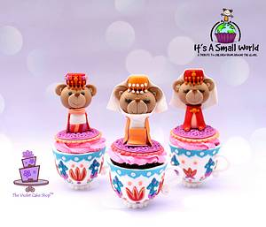 IT'S A SMALL WORLD; A Tribute to Children Cupcake Collaboration - ISTANBUL, TURKEY - Cake by Violet - The Violet Cake Shop™
