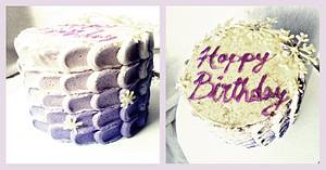 Ombre Petals Winter Birthday - Cake by Princess of Persia