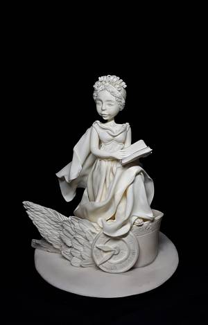 Clio - muza of history GRECO ROMAN STATUES CHALLENGE - Cake by Ania - Sweet creations by Ania